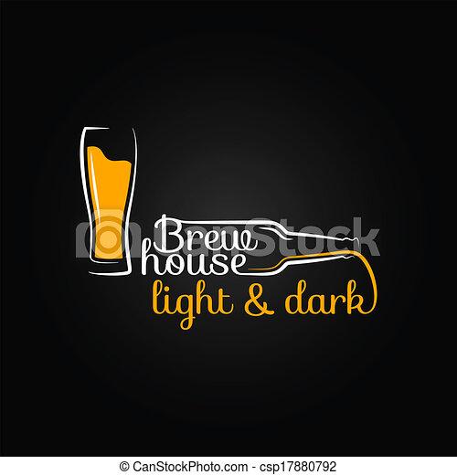 Fondo de diseño de casas de cerveza de vidrio - csp17880792