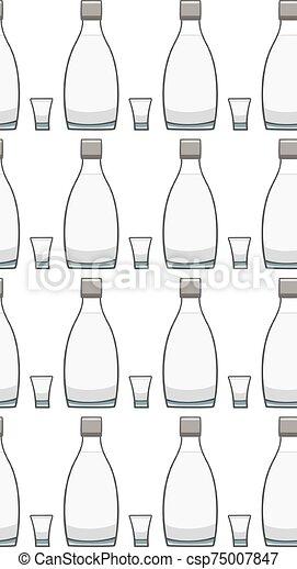 botella, patrón, vodka, vidrio, seamless - csp75007847