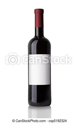 botella roja, vino - csp5182324