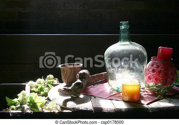 Vino con botella - csp0178000