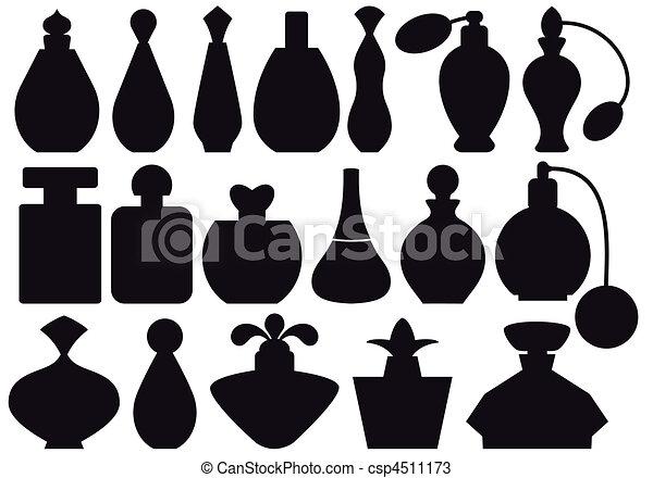 Grficos vectoriales de botellas perfume  conjunto de botella