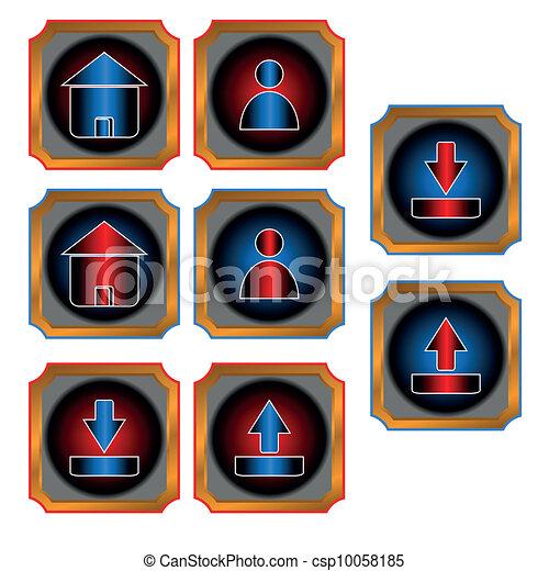 Botones rojos y azules - csp10058185