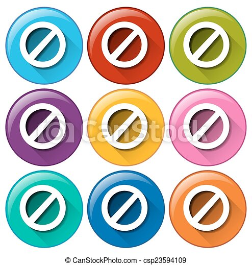 Botones de círculos con cerraduras - csp23594109