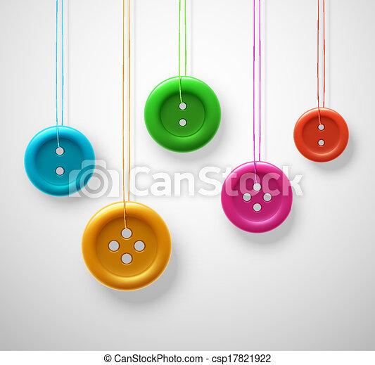 Botones de costura coloridos - csp17821922