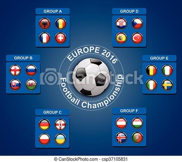Botones de bandera de campeones de fútbol - csp37105831
