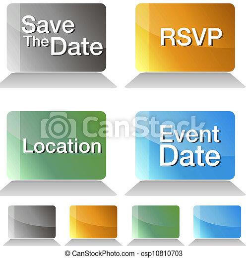Guarde los botones de la fecha - csp10810703