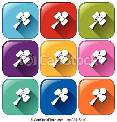 Botones con juguetes - csp23415440