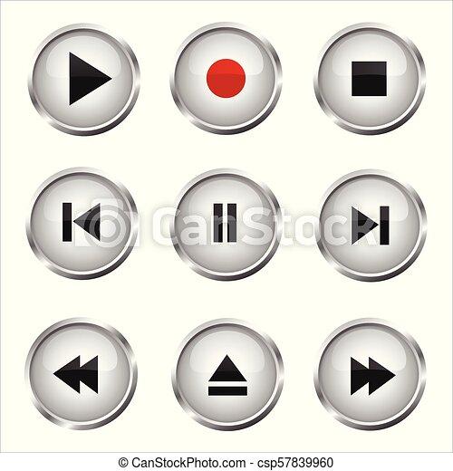 Botones de los medios - csp57839960