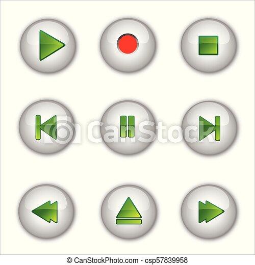 Botones de los medios - csp57839958
