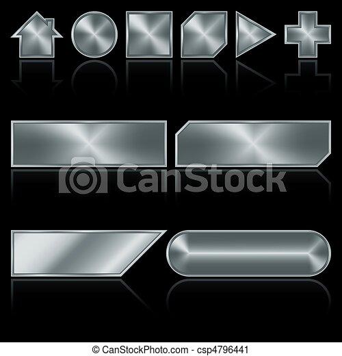 botones, metal - csp4796441