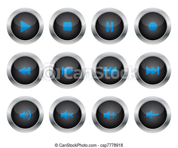 Botones de Multimedia - csp7778918