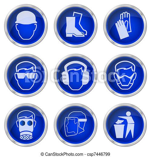 botones, salud, seguridad - csp7446799