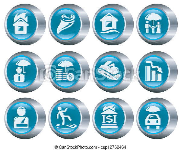 Botones de seguro - csp12762464