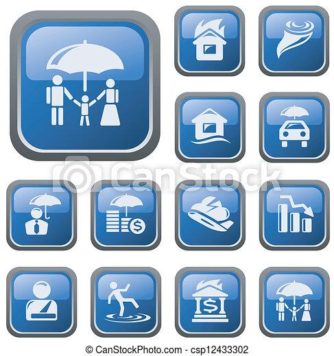 Botones de seguro - csp12433302
