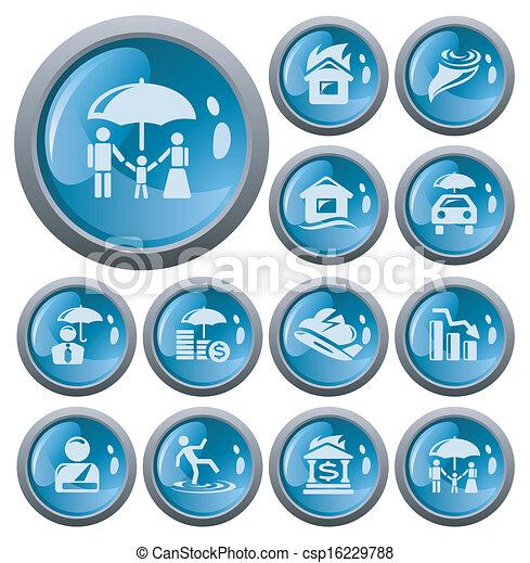 Botones de seguro - csp16229788