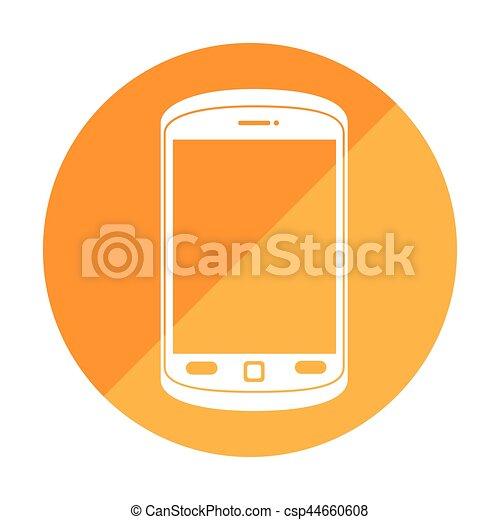 Botones, teléfono celular, marco, redondo. Teléfono celular, marco ...