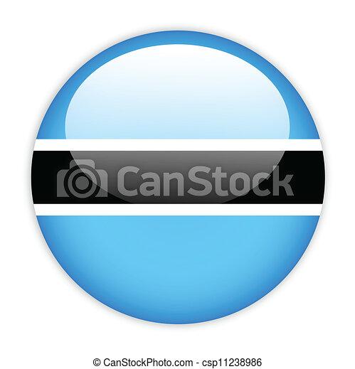 Botswana flag button - csp11238986