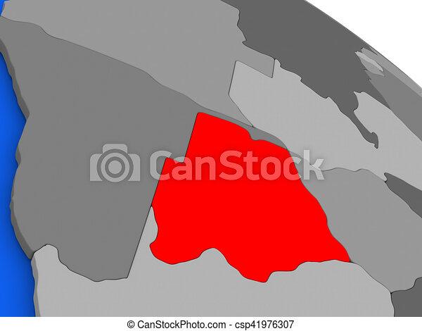 Botswana in red - csp41976307