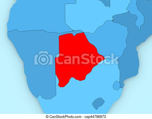 Botswana on 3D map - csp44796973