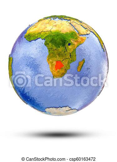 Botswana on globe - csp60163472