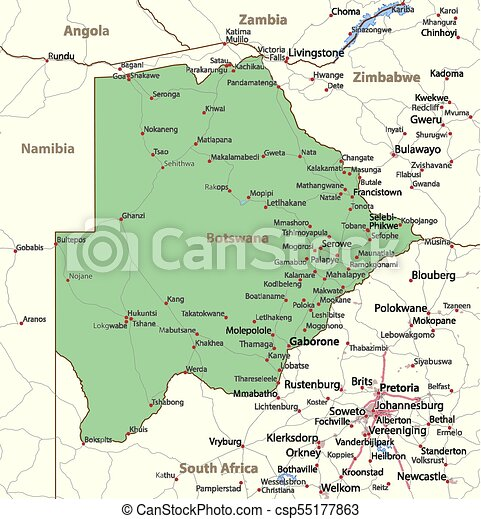Botswana world countries vectormap a map of botswana shows country botswana world countries vectormap a gumiabroncs Image collections