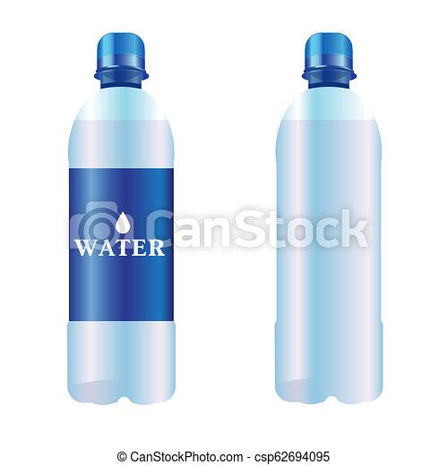 bottiglia acqua, puro - csp62694095