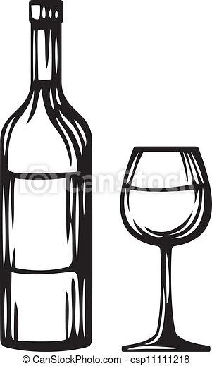 bottiglia vetro, vino - csp11111218