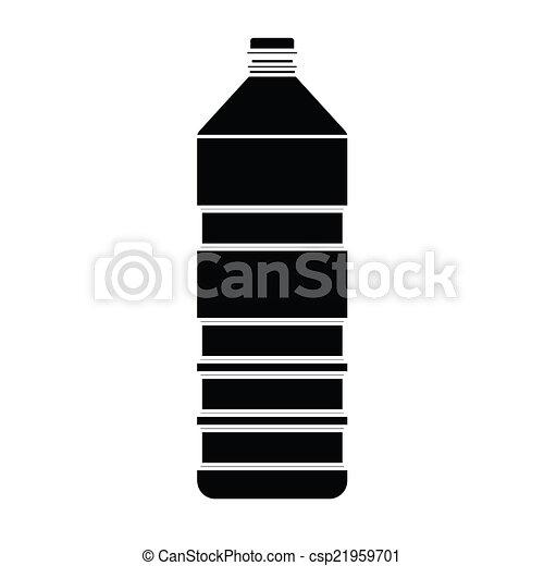 bottiglia, vettore, silhouette - csp21959701