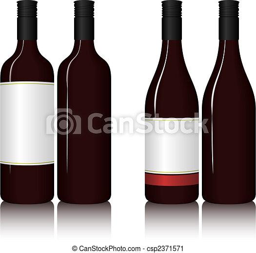 bottiglie, vino - csp2371571