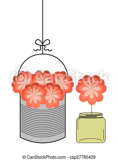 bottle and flower - csp27785429