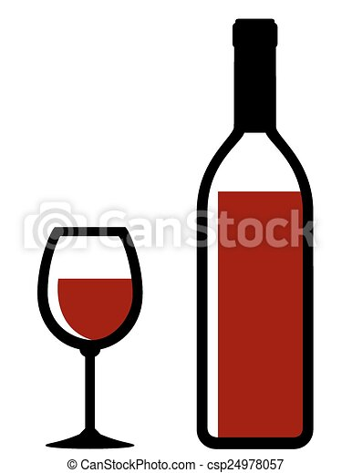 isolated bottle and glass with red wine on white background clipart rh canstockphoto com vine vector art wine vector png