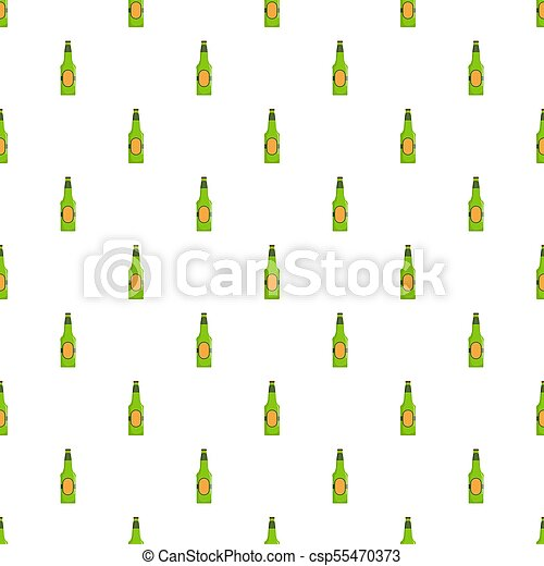 Bottle beer pattern seamless - csp55470373