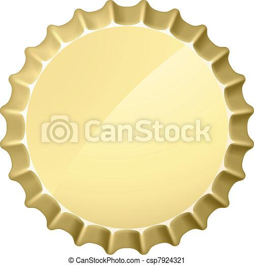 Bottle Cap Illustration On White Background For Design