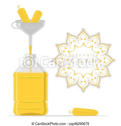 bottle Corn Oil - csp46290679