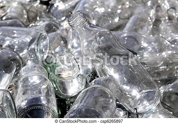 bottle glass recycle mound pattern - csp6265897