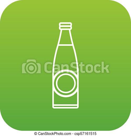 Bottle icon green vector - csp57161515
