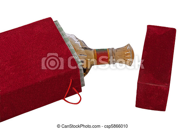 Bottle in the red velour box - csp5866010