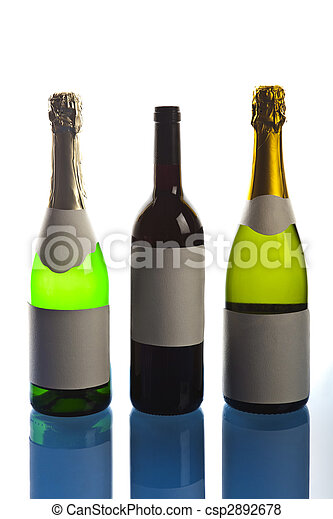 Bottle of champagne - csp2892678
