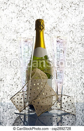 Bottle of champagne - csp2892728
