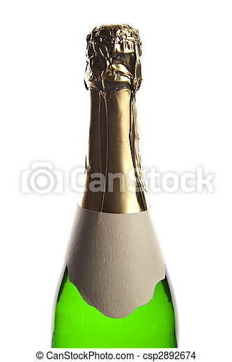 Bottle of champagne - csp2892674