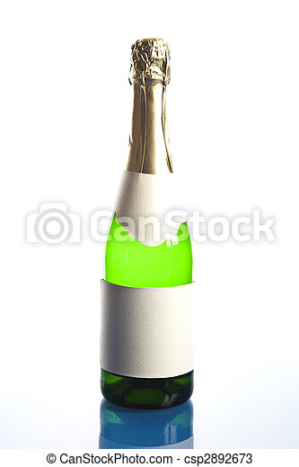 Bottle of champagne - csp2892673
