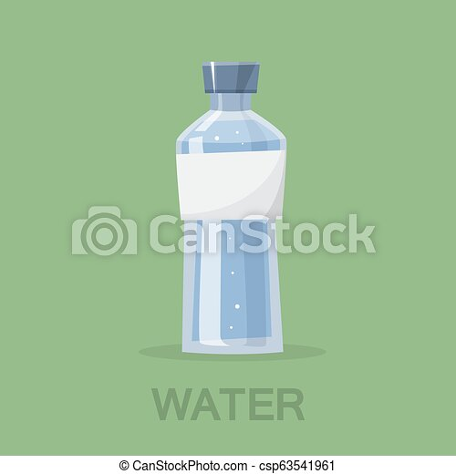 Bottle of fresh cold water. Mineral drink - csp63541961