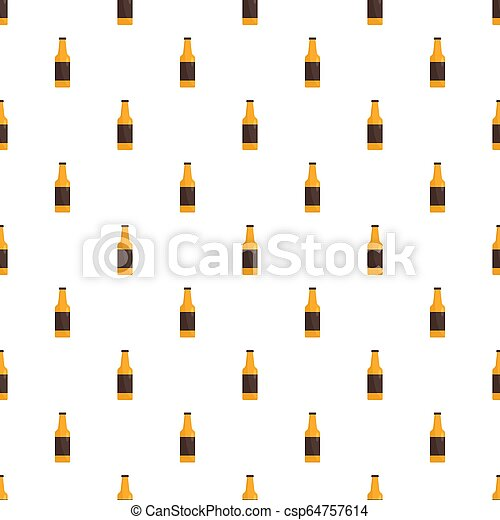 Bottle of german beer pattern seamless - csp64757614