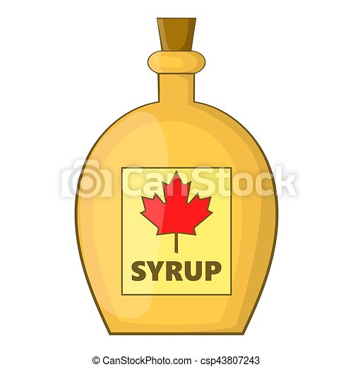 bottle of maple syrup icon cartoon style bottle of maple syrup rh canstockphoto com maple syrup making clipart Maple Syrup Logo