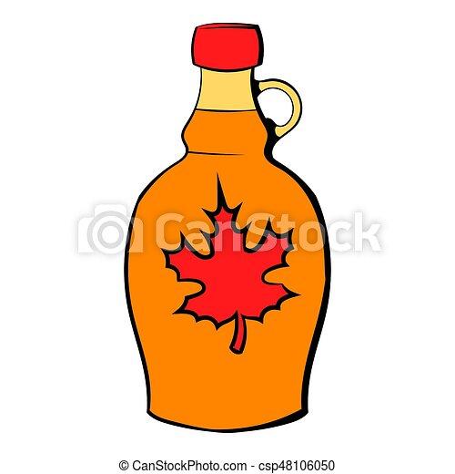 bottle of maple syrup icon cartoon bottle of maple syrup stock rh canstockphoto com maple syrup bottle clipart Ice Cream Syrup Bottle Clip Art