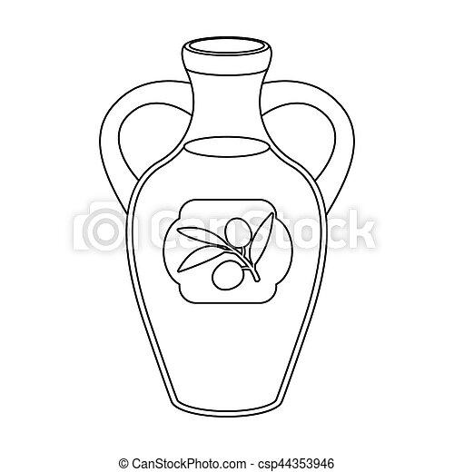 bottle of olive oil icon in outline style isolated on white Ukraine Country Outline bottle of olive oil icon in outline style isolated on white background spain country symbol stock