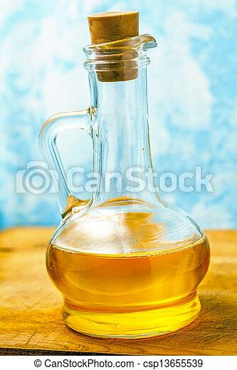 bottle of olive oil - csp13655539