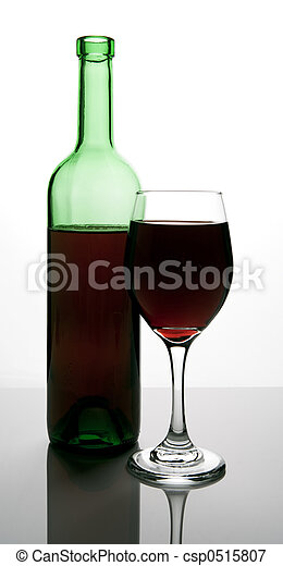 bottle of red wine - csp0515807