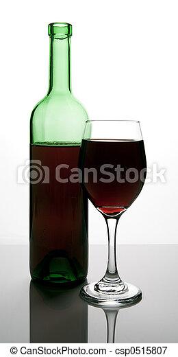 bottle of red wine - csp0515807