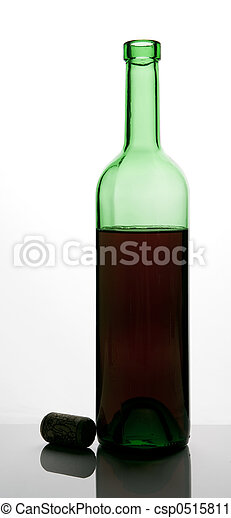bottle of red wine - csp0515811